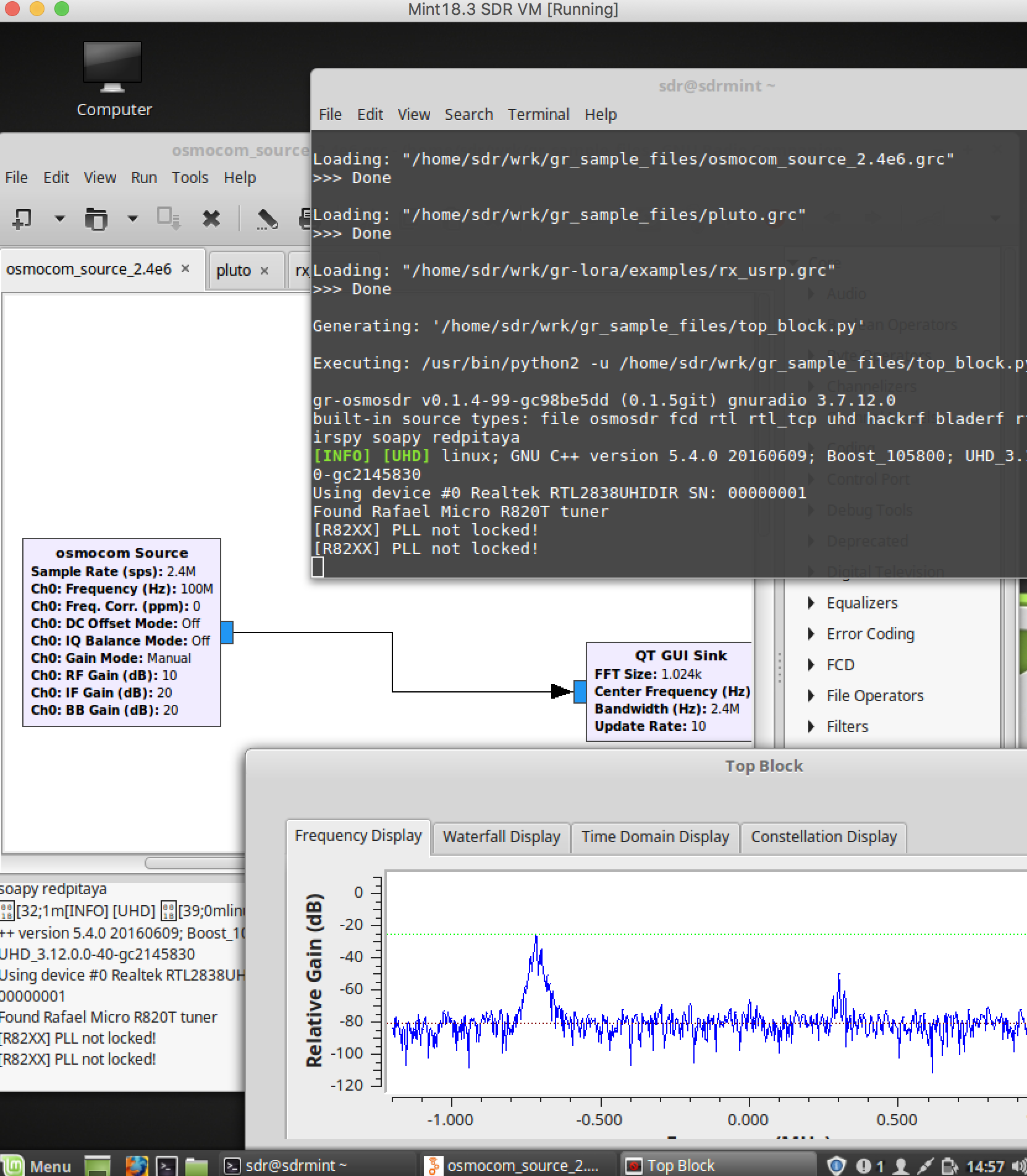GNU Radio Setup — sdr-setup-notes documentation