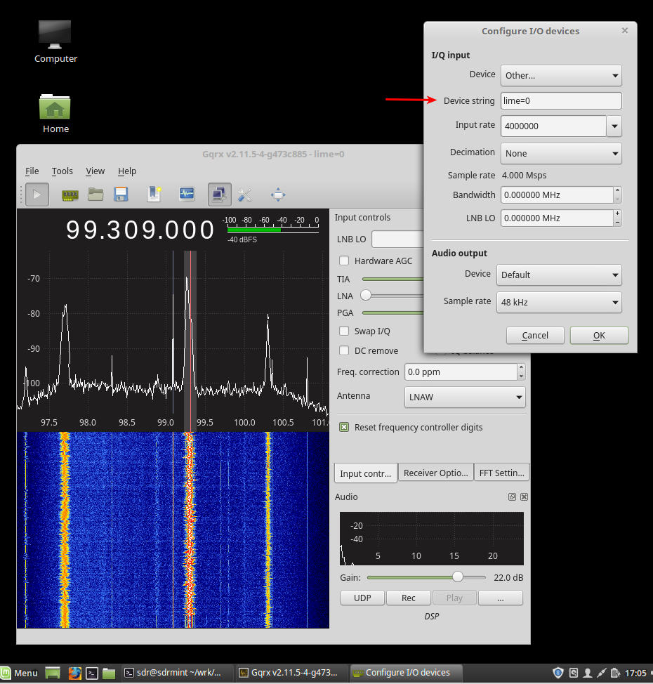 For LimeSDR owners — sdr-setup-notes documentation